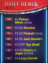 Daily drink specials at our Las Vegas gay bar